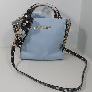 Betsey Johnson Bag Handbag Polka Dot Splotch Blue